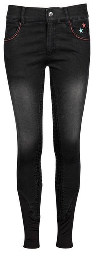 Harry´s Horse Reithose LouLou Wendover Full-Grip Charcoal-Demin